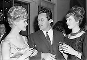 18/04/1962<br /> 04/18/1962<br /> 18 April 1962 <br /> Betty Whelan and Associates Reception at the Gresham Hotel, Dublin. At the event were (l-r): Miss Olive White (Telifis Eireann); Mr Jimmy Craig, Producer, Irish T.V. Advertising Ltd. and Miss Helen Joyce, (Betty Whelan and Associates).