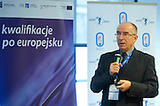 Dr hab. prof. nadzw. Krzysztof Perkowski - AWF Warszawa speaks during conference Trainers Academy for trainers and coaches at National Stadium in Warsaw on September 30, 2014.<br /> <br /> Poland, Warsaw, September 30, 2014<br /> <br /> Picture also available in RAW (NEF) or TIFF format on special request.<br /> <br /> For editorial use only. Any commercial or promotional use requires permission.<br /> <br /> Mandatory credit:<br /> Photo by &copy; Adam Nurkiewicz / Mediasport