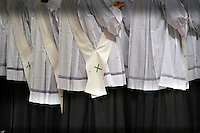Cassocks of the ministers of communion during Mass on the Solemnity of Mary Mother of God with Pope Benedict XVI.