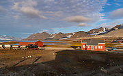 New-Aalesund, the northernmost permanent settelment in the World and a research town at western Spitsbergen, Svalbard, Norway. Photo from August 2019.