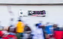 21.02.2016, Olympiaeisbahn Igls, Innsbruck, AUT, FIBT WM, Bob und Skeleton, Herren, Viererbob, 3. Lauf, im Bild Justin Kripps, Alexander Kopacz, Derek Plug, Ben Coakwell (CAN) // Justin Kripps Alexander Kopacz Derek Plug Ben Coakwell of Canada compete during Four-Man Bobsleigh 3rd run of FIBT Bobsleigh and Skeleton World Championships at the Olympiaeisbahn Igls in Innsbruck, Austria on 2016/02/21. EXPA Pictures © 2016, PhotoCredit: EXPA/ Johann Groder