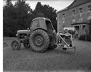 18/3/1958<br /> 3/18/1958<br /> 18 March 1958<br /> Atlas Copco Gt. Britain Ltd. Compressor driven from tractor, photographed in  Rathdrum, Co. Wicklow.