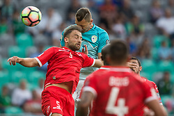 Andrei Agius of Malta vs Milivoje Novakovic of Slovenia during football match between National teams of Slovenia and Malta in Round #6 of FIFA World Cup Russia 2018 qualifications in Group F, on June 10, 2017 in SRC Stozice, Ljubljana, Slovenia. Photo by Vid Ponikvar / Sportida