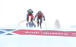 14.01.2018, Idre Fjall, Idre, SWE, FIS Weltcup Ski Cross, Idre Fjall, im Bild Jean Frederic Chapuis before Alex Fiva final jump // during the FIS Ski Cross World Cup at the Idre Fjall in Idre, Sweden on 2018/01/14. EXPA Pictures © 2018, PhotoCredit: EXPA/ Nisse Schmidt<br /> <br /> *****ATTENTION - OUT of SWE*****