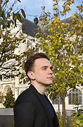 Portrait of Thomas Ospital, organist, born 1990 in the French Basque country, photographed on 8th November 2018 in the gardens of the Church of St Eustache, Paris, France. Thomas Ospital is the Titular Organist of the largest pipe organ in France at the Eglise Saint-Eustache in Paris and Organist in Residence at the Maison de la Radio (new Radio France auditorium by Gerhard Grenzing). Picture by Manuel Cohen