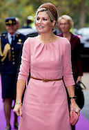 12-11-2015 - NIJMEGEN - Queen Máxima opens three innovative operating rooms in the Medical Innovation & Technology Expert Center (MITEC) of the Radboud University Nijmegen Medical Centre in Nijmegen. Koningin Máxima opent drie innovatieve operatiekamers in het Medical Innovation & Technology expert Center (MITeC) van het Radboudumc in Nijmegen. - COPYRIGHT ROBIN