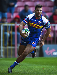 Cape Town-180427 Stomers  Damien de Allende scored the first try for his team against Rebels the Super 15 rugby game at Newlands Stadium.photograph:Phando Jikelo/African news Agency