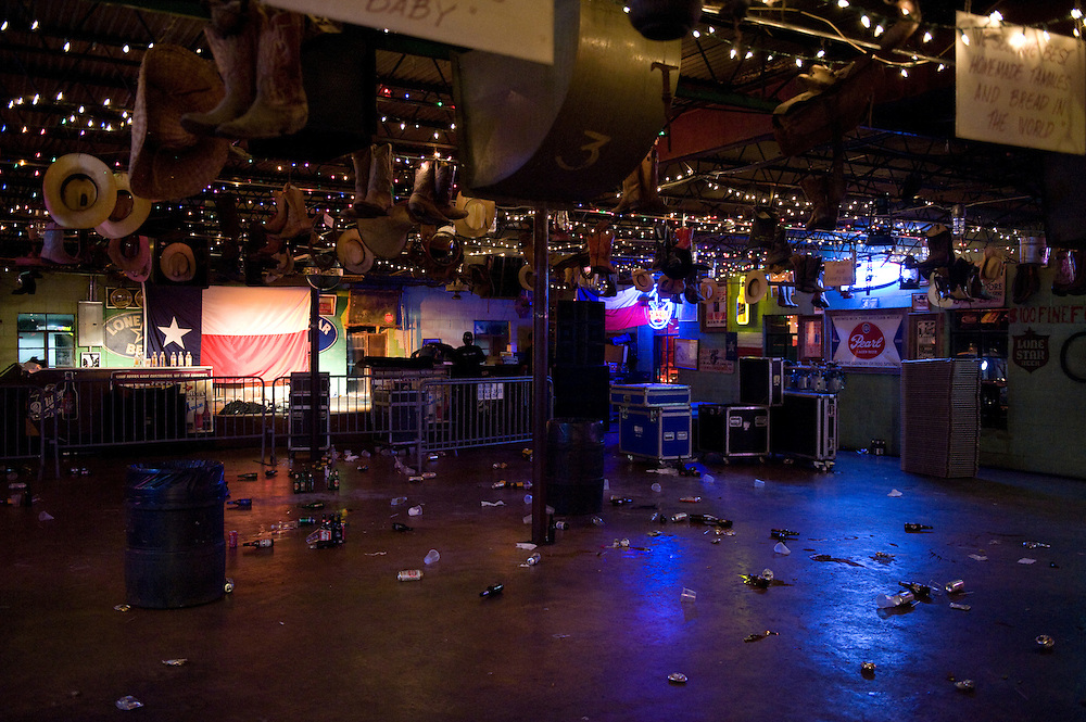 After-show aftermath at John T. Floore Country Store in Helotes, Texas.