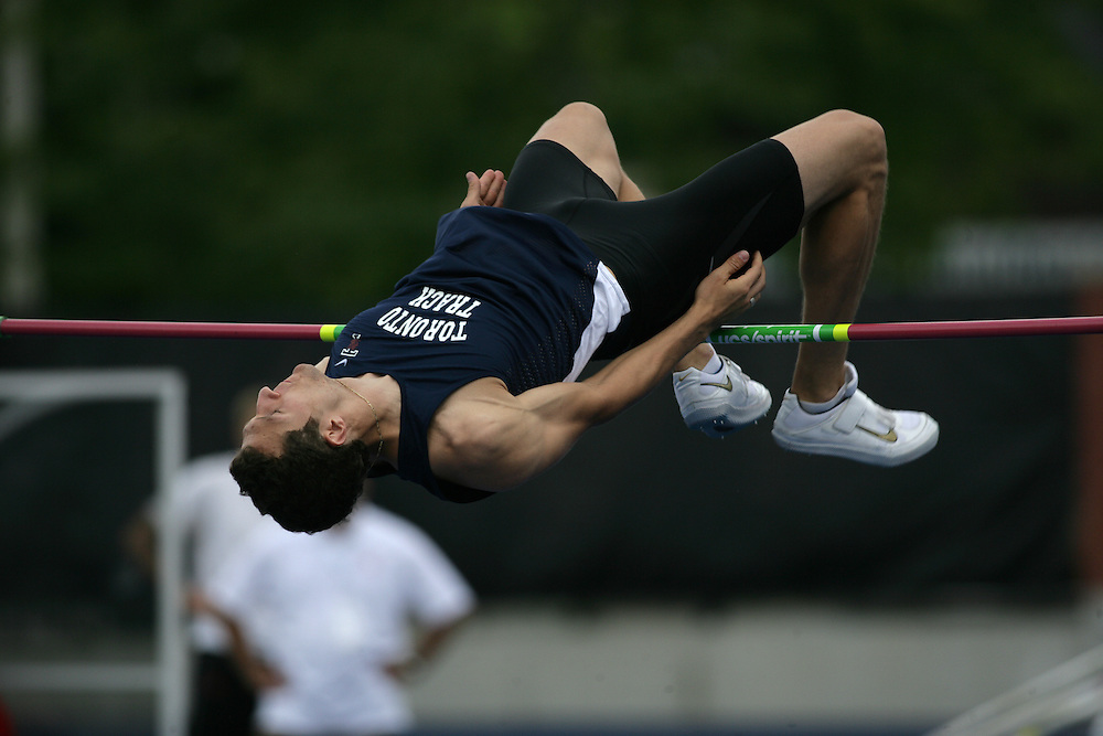 Toronto, Ontario ---25/06/09--- \Massimo Bertocchi\the decathlon high jump at the Canadian National Track and Field Championships in Toronto, Ontario June 28, 2009..Sean Burges Mundo Sport Images
