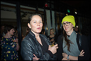CARAGH THURING; EMMA SCHOFIELD, Frieze party, ACE hotel Shoreditch. London. 18 October 2014