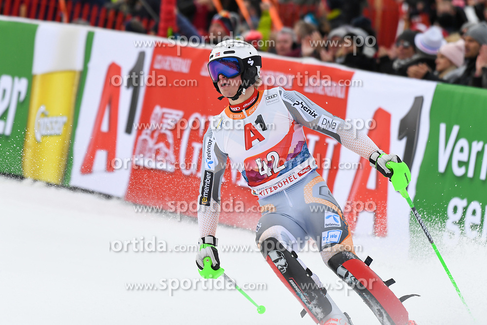 26.01.2020, Streif, Kitzbühel, AUT, FIS Weltcup Ski Alpin, Slalom, Herren, im Bild Timon Haugan (NOR) // Timon Haugan of Norway during the men's Slalom of FIS Ski Alpine World Cup at the Streif in Kitzbühel, Austria on 2020/01/26. EXPA Pictures © 2020, PhotoCredit: EXPA/ Erich Spiess