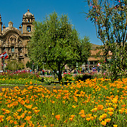 Plaza de Armas, the center of Cuzco, Peru.