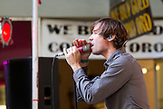 Beta State performs on the 1st Street stage during Left Coast Live in Downtown San Jose, Calif., Oct. 8, 2011.  Photo by Stan Olszewski/SOSKIphoto