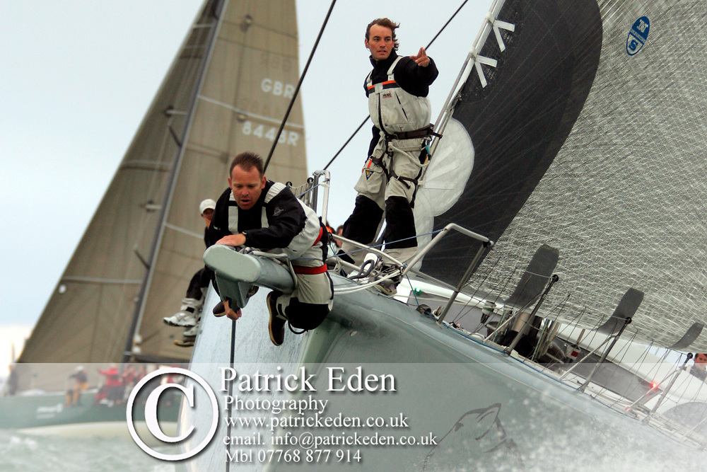 2008, Round the island Race, ICAP, Leopard, Cowes, Isle of Wight, UK, Sports Photography