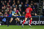 Alex Goode, Fullback (Saracens) during the Gallagher Premiership Rugby match between Harlequins and Saracens at Twickenham Stoop, Twickenham, United Kingdom on 6 October 2018.