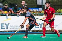 St.-Job-In 't Goor / Antwerpen -  6Nations U23 -   Steijn van Heijningen met Josh Davis (GB)   Nederland Jong Oranje Heren (JOH) - Groot Brittannie .  COPYRIGHT  KOEN SUYK