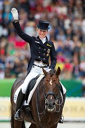 Helen Langehanenberg, (GER), Damon Hill NRW - Grand Prix Special Dressage - Alltech FEI World Equestrian Games™ 2014 - Normandy, France.<br /> © Hippo Foto Team - Leanjo de Koster<br /> 25/06/14