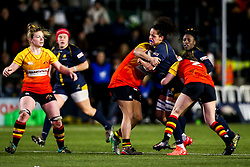 Sara Moreira of Worcester Warriors Women is tackled  - Mandatory by-line: Robbie Stephenson/JMP - 11/01/2020 - RUGBY - Sixways Stadium - Worcester, England - Worcester Warriors Women v Richmond Women - Tyrrells Premier 15s