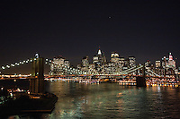 night view from manhattan bridge - New York City in October 2008