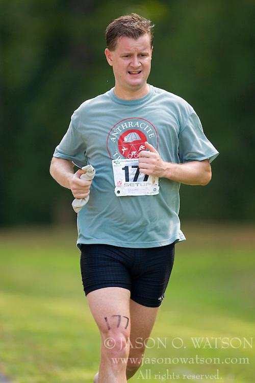 CHARLOTTESVILLE, VA - July 27, 2008 - JIM TROUSDALE in The 2008 Charlottesville International Triathlon was held at Walnut Creek Park in Albemarle County near Charlottesville, Virginia, USA.