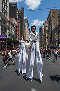 New York, NY - 30 June 2019. The New York City Heritage of Pride March filled Fifth Avenue for hours with participants from the LGBTQ community and it's supporters. Particiants included cast members from Pose, the American dramatic series.