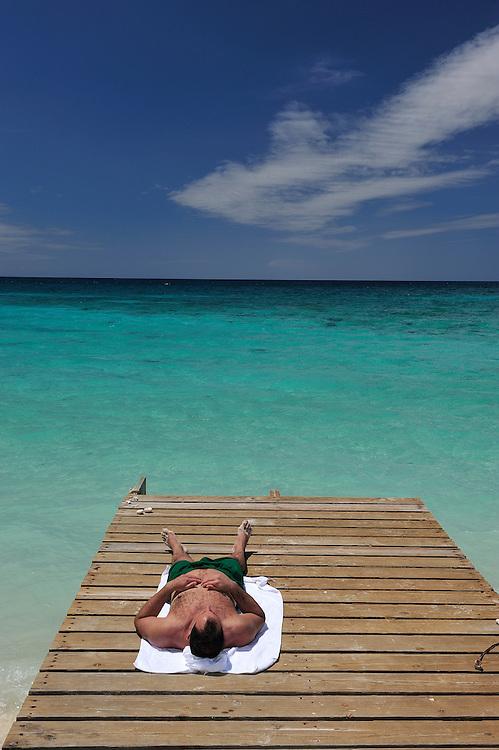 Beach at Bahia de loas Aguilas near Cabo Rojo,Dominican Republic, Caribbean..