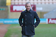 Cambridge United Manager Shaun Derry  during the Sky Bet League 2 match between Cambridge United and York City at the R Costings Abbey Stadium, Cambridge, England on 20 February 2016. Photo by Simon Davies.