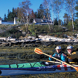 Southport, ME.... Kayaking next to Burnt Island in Midcoast Maine.  Boothbay Harbor.  Burnt Island Lighthouse.
