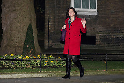© Licensed to London News Pictures. 08/01/2018. London, UK. Claire Perry arrives at 10 Downing Street as Prime Minister Theresa May reshuffles the Cabinet. Photo credit: Rob Pinney/LNP