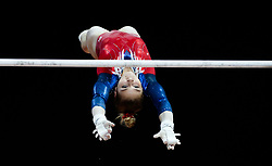 Russia's Uliana Perebinosova during the women's uneven bars final  during day four of the 2018 European Championships at The SSE Hydro, Glasgow.