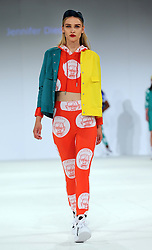 Designs by student Jennifer Diederich at the Nottingham Trent University show at Graduate Fashion Week in London , Monday, 3rd June 2013<br /> Picture by:  Stephen Lock / i-Images