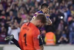 October 20, 2018 - Barcelona, Catalonia, Spain - October 20, 2018 - Camp Nou, Barcelona, Spain - LaLiga Santander- FC Barcelona v Sevilla CF; Luis Suarez of FC Barcelona celebrates the 3-0. (Credit Image: © Marc Dominguez/ZUMA Wire)
