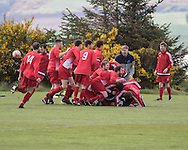 Fintry Rovers celebrate as they beat Ferry Mechanics  to win the Dundee Saturday Morning Football League Second Division on 'Super Saturday' at Dundee University Grounds, Riverside<br /> <br />  - &copy; David Young - www.davidyoungphoto.co.uk - email: davidyoungphoto@gmail.com