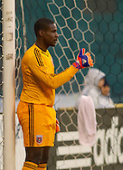 DC United's Bill Hamid directs his wall. DC United defeated the LA Galaxy 1-0 with a stoppage time goal from Chris Pontius at RFK Stadium in Washington DC.