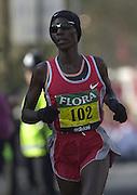 London Marathon, London, GREAT BRITAIN, location, Isle of Dogs, Race Race No. 102 CATHERINE. NDEREBA, KEN. © Peter Spurrier/Intersport Image/+447973819551