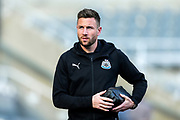 Paul Dummett (#3) of Newcastle United arrives ahead of the Premier League match between Newcastle United and Huddersfield Town at St. James's Park, Newcastle, England on 23 February 2019.