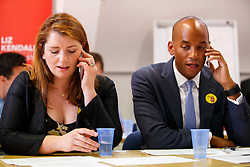 © Licensed to London News Pictures. 07/09/2015. London, UK. Alison McGovern and Chuka Ummuna calling Labour Party members to ask them to vote for Labour Party leader candidate Liz Kendall and making sure they vote before the Thursday lunchtime deadline as the Labour leadership election enters the final 72 hours. Photo credit: Tolga Akmen/LNP