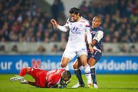 Milan Bisevac / Anthony Lopes  - 21.12.2014 - Bordeaux / Lyon - 19eme journee de Ligue 1 -<br /> Photo : Manuel Blondeau / Icon Sport