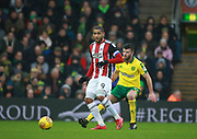 Sheffield United's Leon Clarke during the EFL Sky Bet Championship match between Norwich City and Sheffield Utd at Carrow Road, Norwich, England on 20 January 2018. Photo by John Marsh.