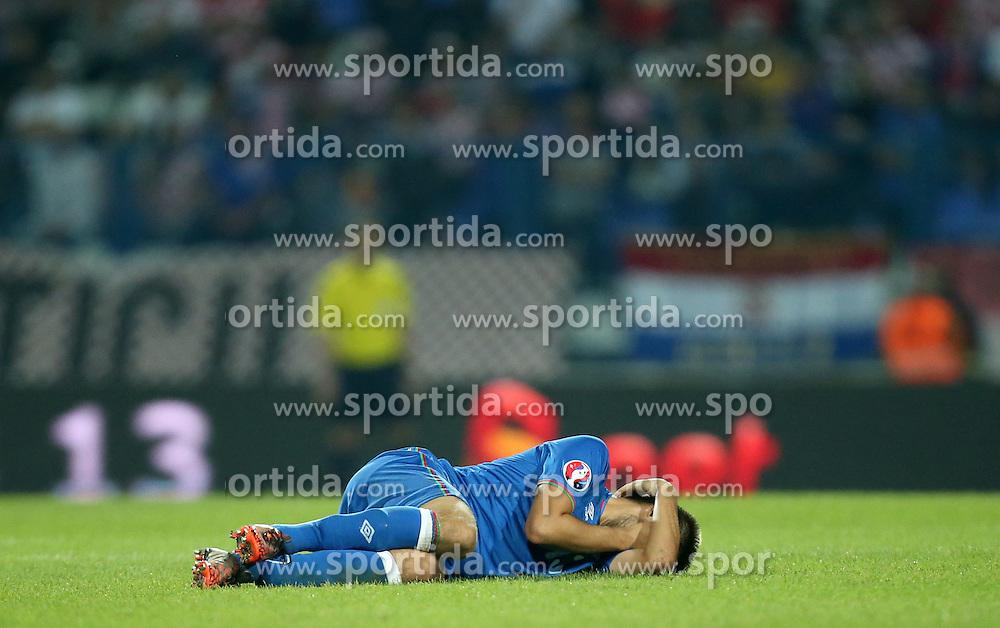 13.10.2014, Stadion Gradski vrt, Osijek, CRO, UEFA Euro Qualifikation, Kroatien vs Aserbaidschan, Gruppe H, im Bild Dmitri Nazarov // during the UEFA EURO 2016 Qualifier group H match between Croatia and Azerbaijan at the Stadion Gradski vrt in Osijek, Croatia on 2014/10/13. EXPA Pictures &copy; 2014, PhotoCredit: EXPA/ Pixsell/ Igor Kralj<br /> <br /> *****ATTENTION - for AUT, SLO, SUI, SWE, ITA, FRA only*****