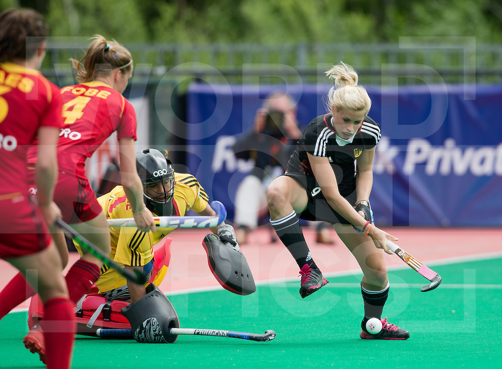 Hockey Womens World league Semi Finals Rotterdam 2013<br /> Germany v Belgium  13062013<br /> Kristina Hillmann in action on day 1 of the World league semi finals in Rotterdam <br /> <br /> <br /> Photo: Grant Treeby / treebyimages