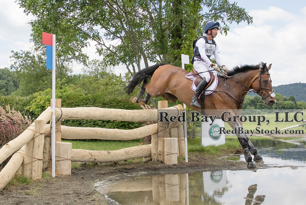 Clark Montgomery riding Loughan Glen competes in the Cross Country phase of the 2016 Land Rover Great Meadow International on Sunday, July 10, 2016, at the Great Meadow Foundation in The Plains, VA. The weekend long event is the final stateside preparation event for the U.S. Olympic Eventing Team.