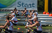 "Rio de Janeiro. BRAZIL.   GER M2X, Bow man Marcel HACKER, goes through a pre Race ritual 2016 Olympic Rowing Regatta. Lagoa Stadium,<br /> Copacabana,  ""Olympic Summer Games""<br /> Rodrigo de Freitas Lagoon, Lagoa.   Tuesday  09/08/2016 <br /> <br /> [Mandatory Credit; Peter SPURRIER/Intersport Images]"