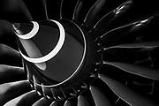 Rolls-Royce jet engine on an El Al Boeing 787-9 Dreamliner