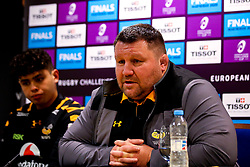 Wasps Director of Rugby Dai Young and Jacob Umaga of Wasps in the post match press conference after the win against Agen - Mandatory by-line: Robbie Stephenson/JMP - 23/11/2019 - RUGBY - Ricoh Arena - Coventry, England - Wasps v Agen - European Rugby Challenge Cup