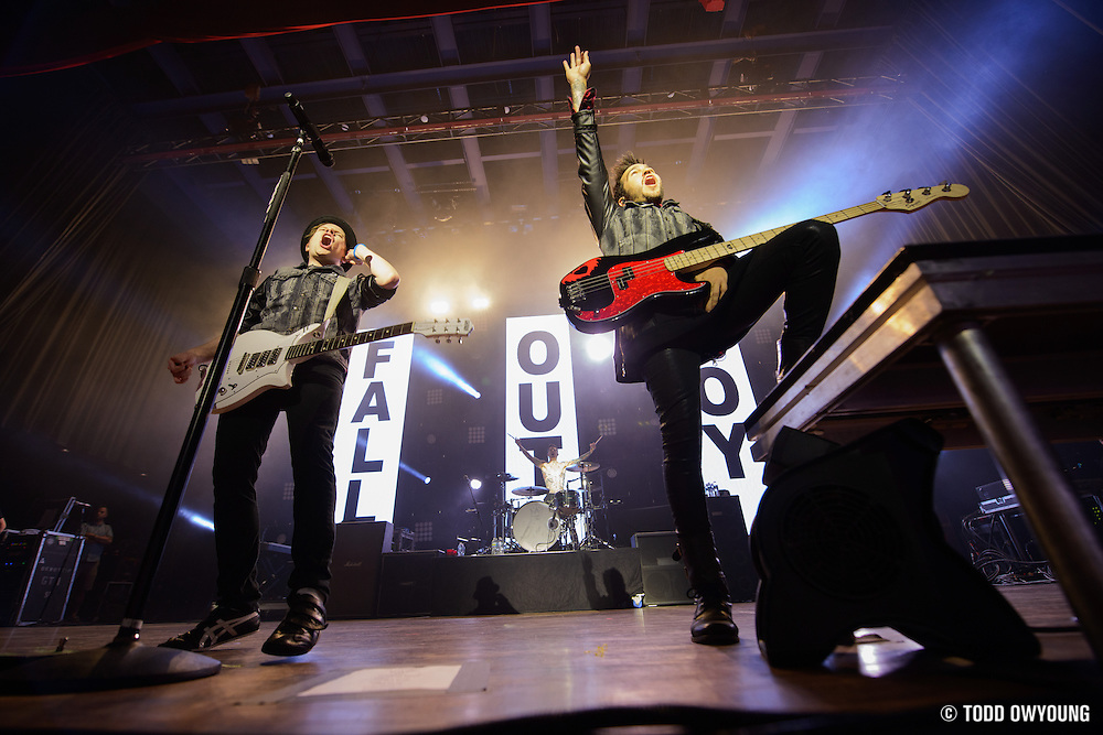 """Fall Out Boy performing to a sold out crowd at the Pageant in St. Louis on June 28, 2013 on their tour for """"Save Rock and Roll."""""""