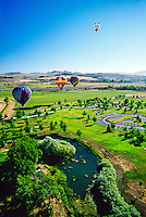 Hot air balloons, Rancho San Rafael, Reno, Nevada USA