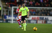 Brighton winger, Jamie Murphy (15) during the Sky Bet Championship match between Rotherham United and Brighton and Hove Albion at the New York Stadium, Rotherham, England on 12 January 2016.