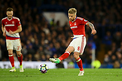 Adam Clayton of Middlesbrough in action - Mandatory by-line: Jason Brown/JMP - 08/05/17 - FOOTBALL - Stamford Bridge - London, England - Chelsea v Middlesbrough - Premier League