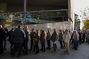 Early in the morning, many people has been waiting in front of the schools for vote before the schools have opened. 1.317 special places have been enabled for the voting process. Place: Mataro city center. The 9th of November, 9N has been a special date in Catalonia where catalan people have participated in a voting process polling on the independence of Catalonia. Moer than 2 million people have participated, although Spain's Constitutional court suspended the referendum secession plan for this date. Photo: Eva Parey NO SALES IN SPAIN